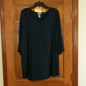 Blue / Black tunic style shirt